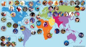 Disney Map by Eowyn Smith