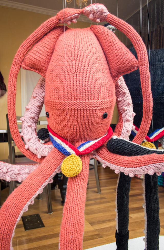 Ice Dancing Knit Squid
