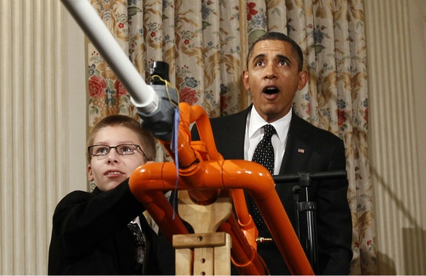 Joey Hudy Shows Air Cannon to President Obama