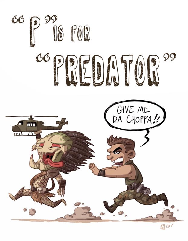 P Is For Predator by Otis Frampton