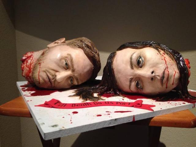 Severed Heads Wedding Cake