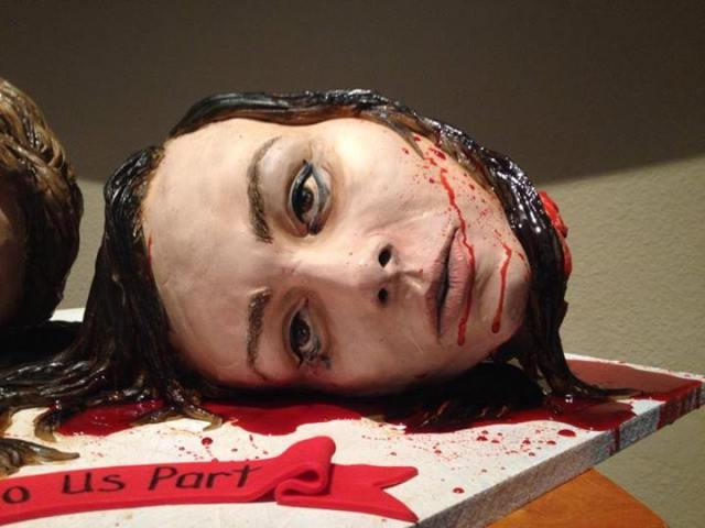 Severed Heads Wedding Cake Wife