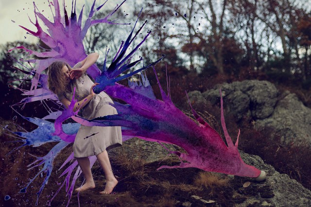 Photos Augmented with Watercolors by Aliza Razell