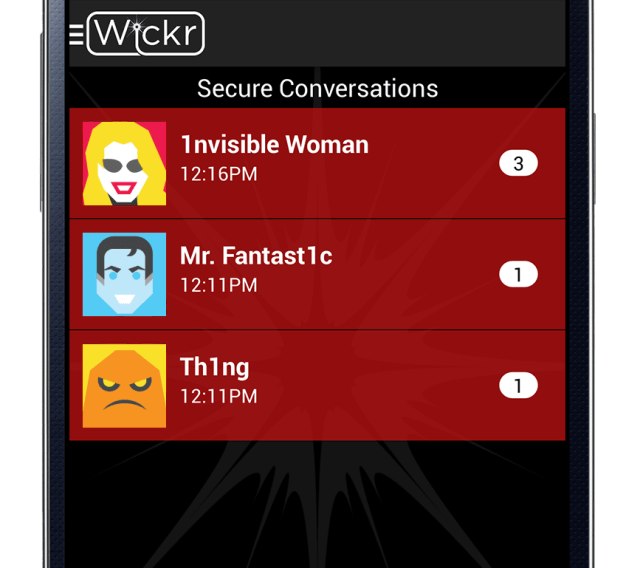 Wickr App Conversations