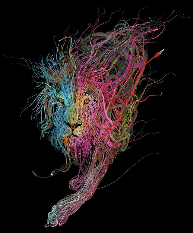 Intricate Wire Illustrations by Charis Tsevis