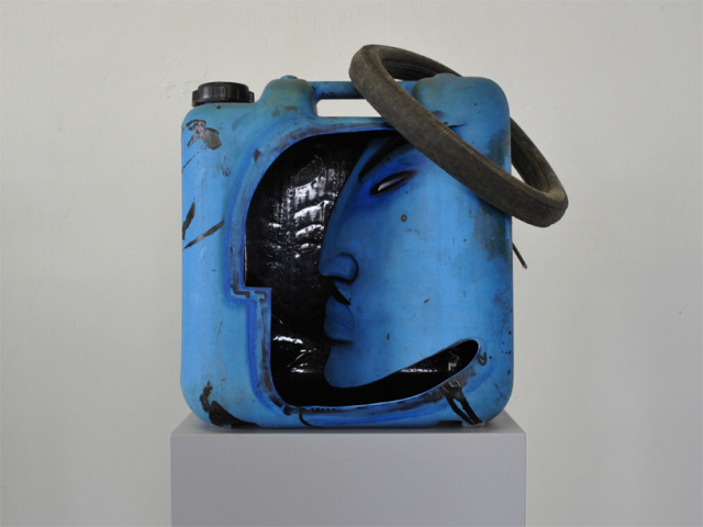 Gas Can Face Sculptures by Gerd Rohling