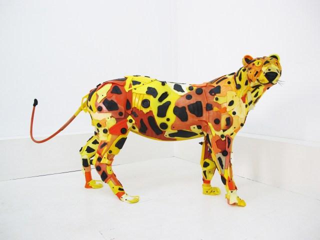 Plastic Beach Trash Animal Sculptures