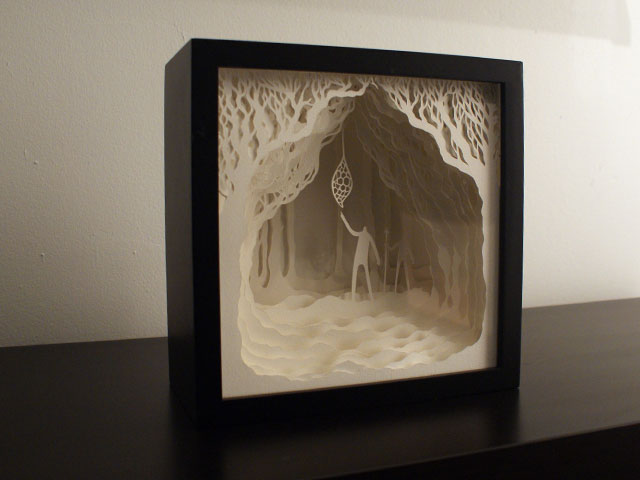 Cut Paper Light Boxes by Hari & Deepti