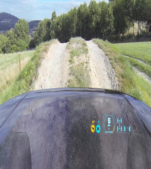 Land Rover Transparent Hood