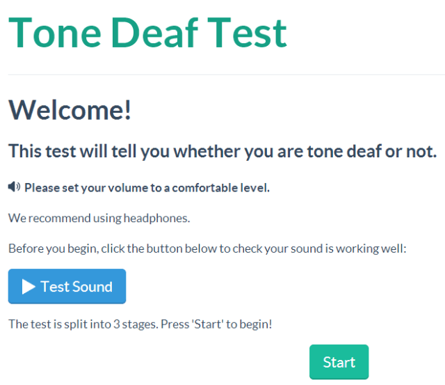 Tone Deaf Test