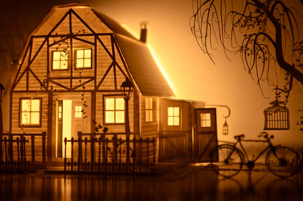 Papercraft Installations with Projection Mapped Animations