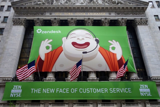Zendesk IPO at the New York Stock Exchange