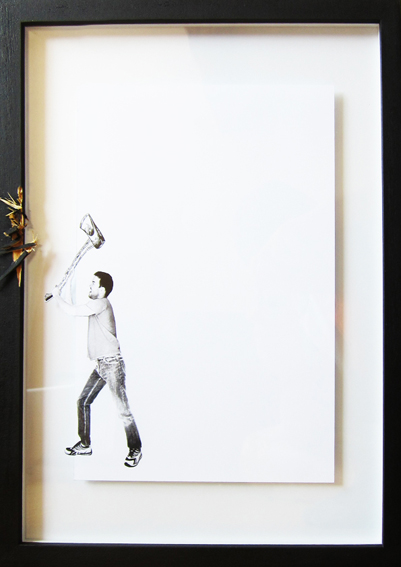 Clever Art Series Features Manipulated and Damaged Picture Frames