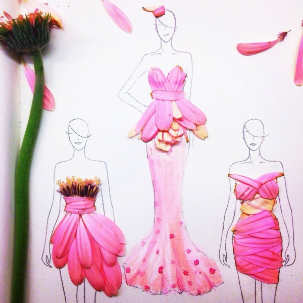 Flower Fashion Illustrations by Grace Ciao