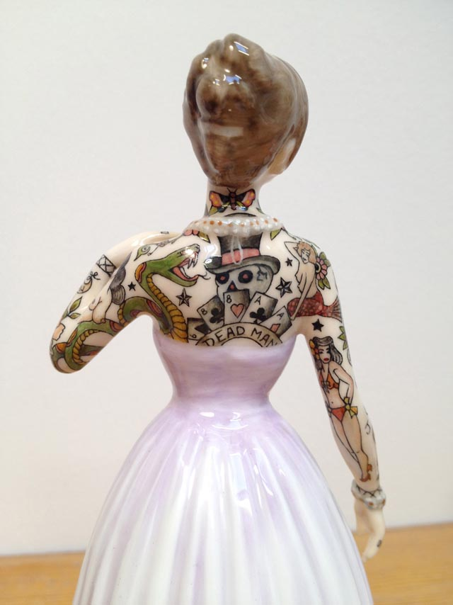 Tattooed Porcelain Figurines by Jessica Harrison