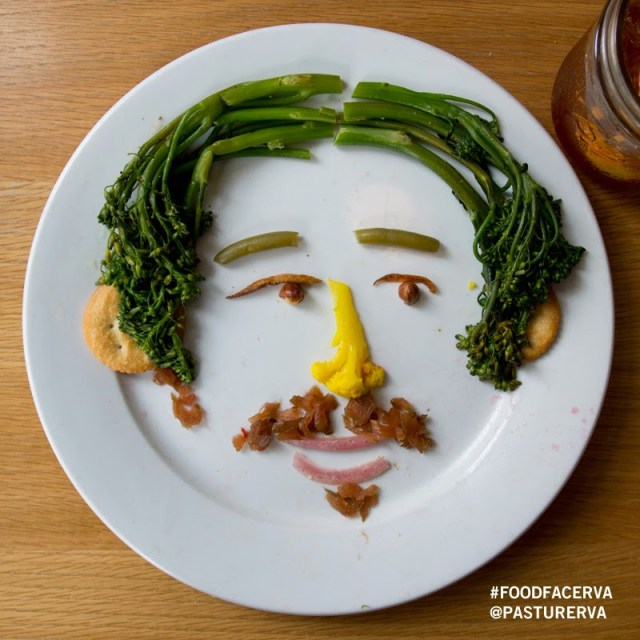 Clever Food Face Art Created from Restaurant Meals