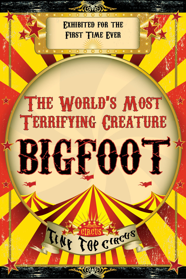 Tiny Top Circus Announces a Public Exhibition of Bigfoot in New York City