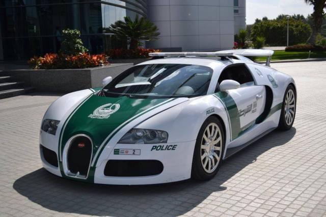 Dubai Police Bugatti Veyron Police Car