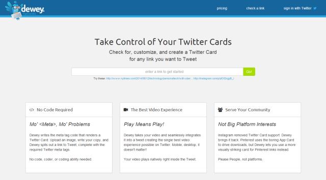 Dewey Twitter Cards