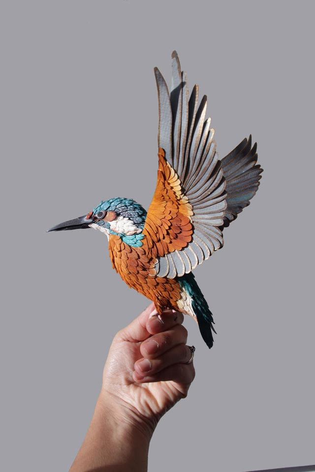 Lifelike Paper Bird Sculptures by Diana Beltran Herrera