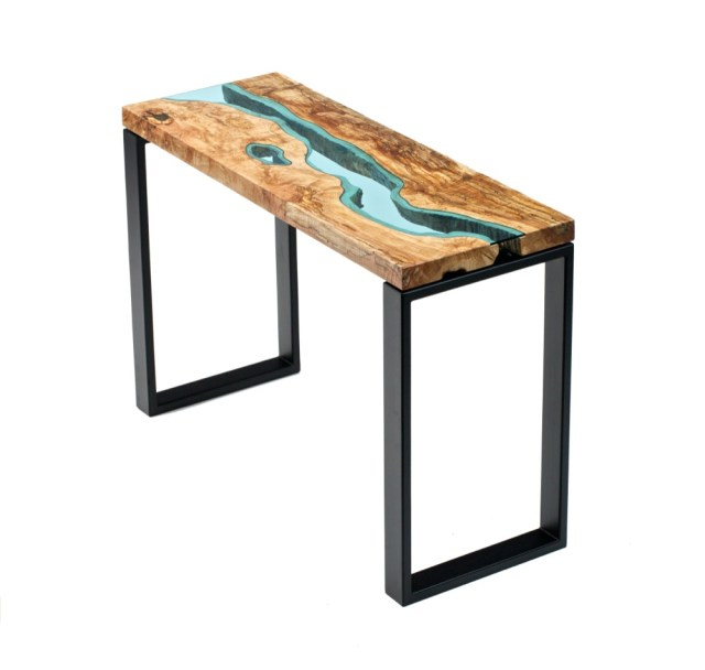 Wooden and Glass Tables by Greg Klassen