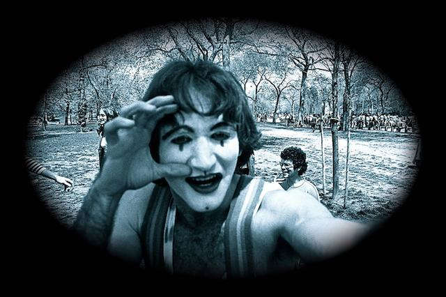 Closeup of One Mime
