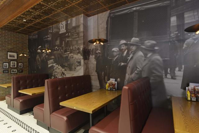 Booths at Denny's Manhattan Location