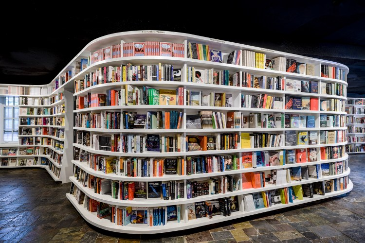 Flowing Bookcase at St. Mark's Bookshop