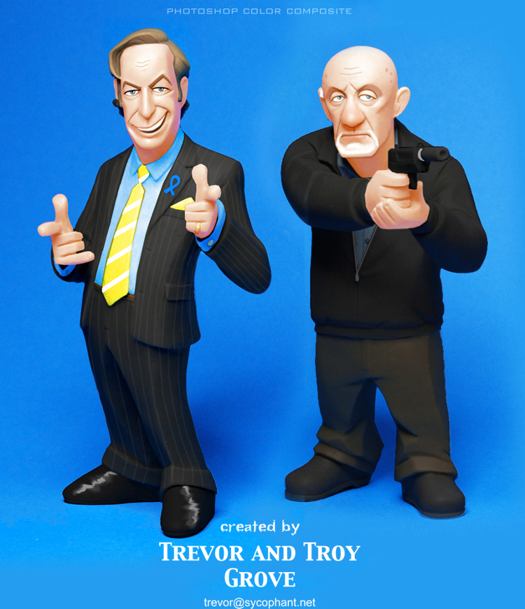 BREAKING BAD Toon-Up Figures: Saul and Mike