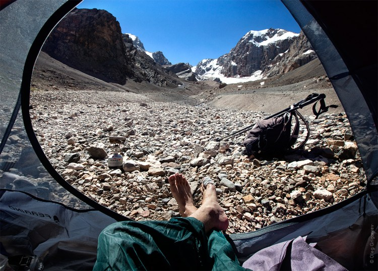 Breathtaking Photos of Mountains in Tajikistan as Seen From a Camper's Tent