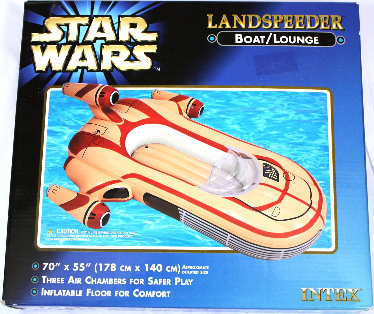 Inflatable star wars landspeeder pool float for Obi intex pool