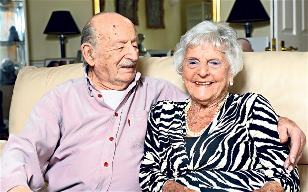 Centenarian British Couple Celebrates Their 80th Wedding Anniversary