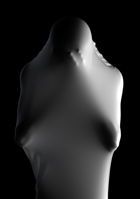 Eerie Digitally Rendered Figure Sculptures by Kyuin Shim
