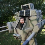 Father Builds a Life-Sized 'MechWarrior' Halloween Costume for Himself and His Six-Month-Old Son