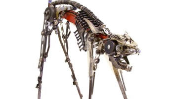 'Cat XXI', A Cat Sculpture Assembled From Salvaged Typewriter Parts by Jeremy Mayer
