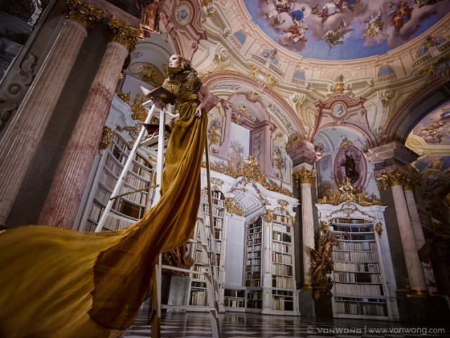 Admont Abbey Library Photo Shoot by Benjamin Von Wong