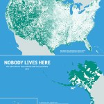 Nobody Lives Here, A Fascinating Map of the Many Areas in the United States That Report Zero Population