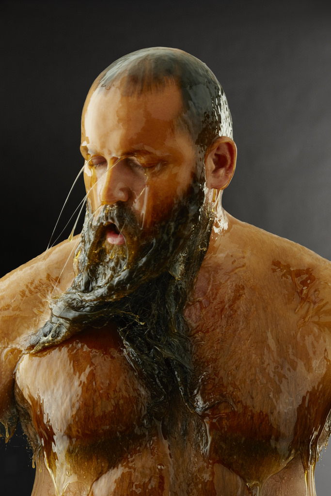 Photos of People Covered in Honey by Blake Little