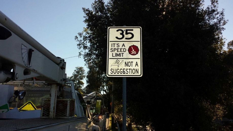 Sassy Street Signs in Hayward California