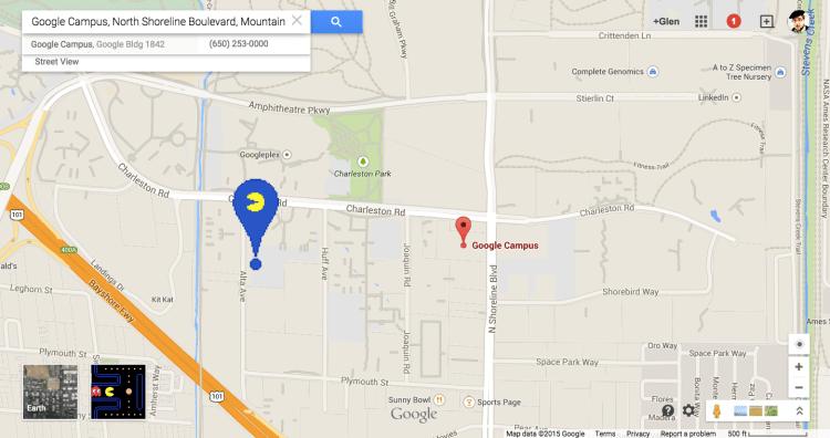 Google Pac-Man Maps