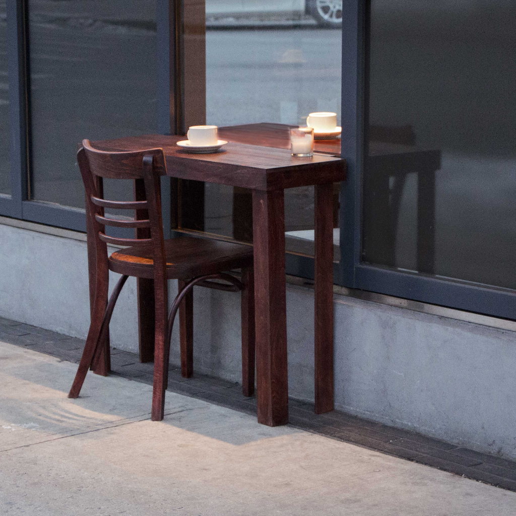 Table For 2 : 'table for two a new york city art installation that