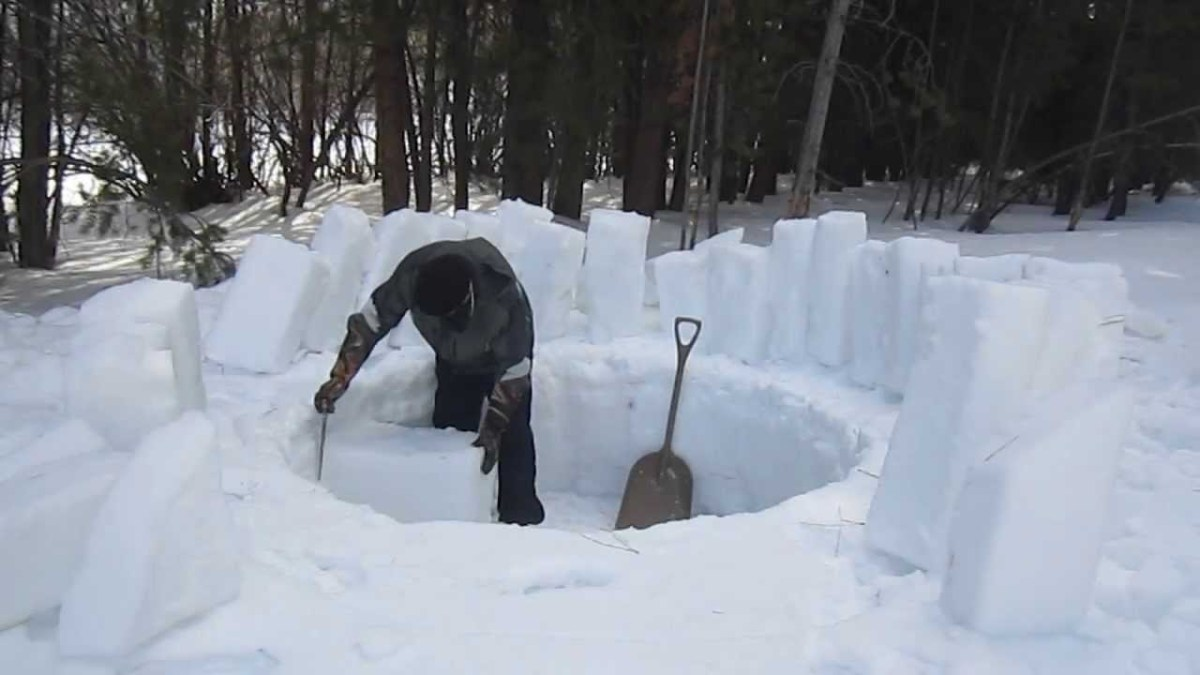 A Step-By-Step Demonstration of How to Build an Igloo from ...