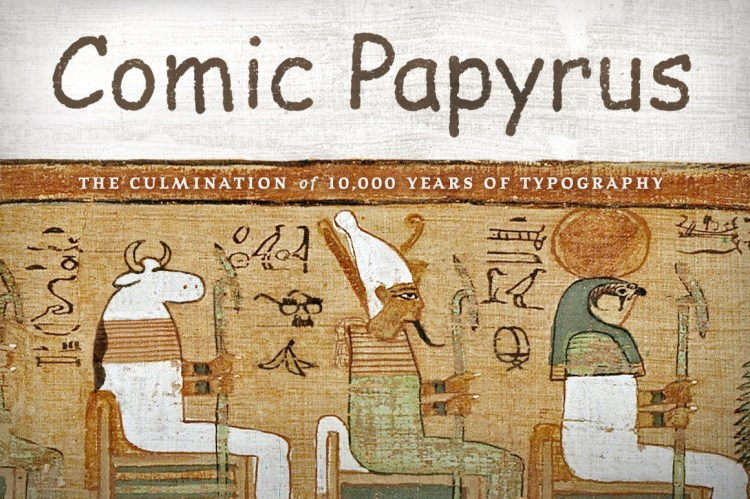 Comic Papyrus illustrated