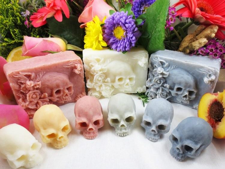 Skull Soaps by Eden Gorgos