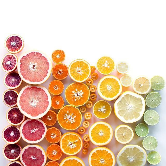 Citrus fruits gradient