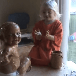 Three-Year-Old Girl Completely Covers Her Younger Brother in Peanut Butter