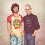 Me & My Other Me, Illustrations of Celebrities Standing Next to Their Younger Selves