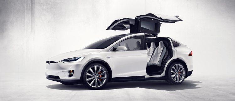 Tesla Model X Falcon Wings Open