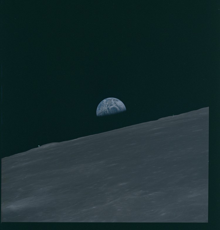 Apollo 10 Photo of the Earth Behind the Moon