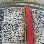 Drone Footage Captures an Insane Traffic Jam in Beijing Stretching 10 Kilometers